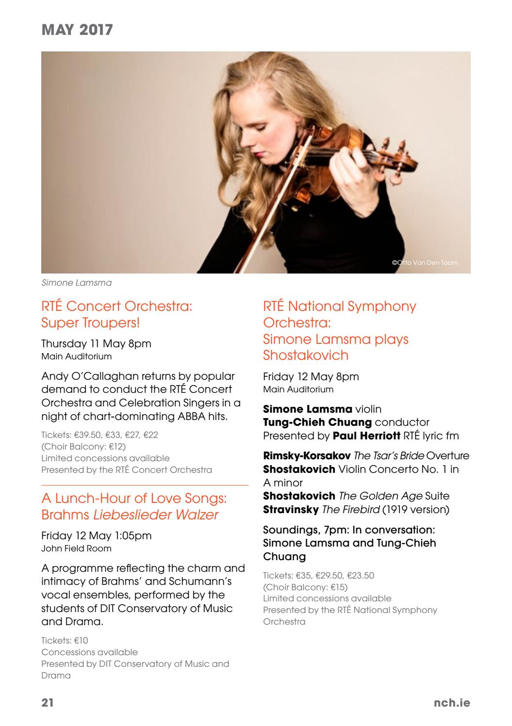 NCH What's On | Spring - Summer 2017 by National Concert