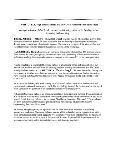 Showcase School Self Promotion Press Release Template By High School
