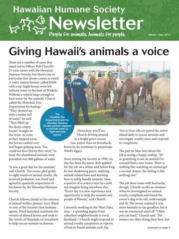 4e4cc20f7174ce March 2017 Newsletter by Hawaiian Humane - issuu