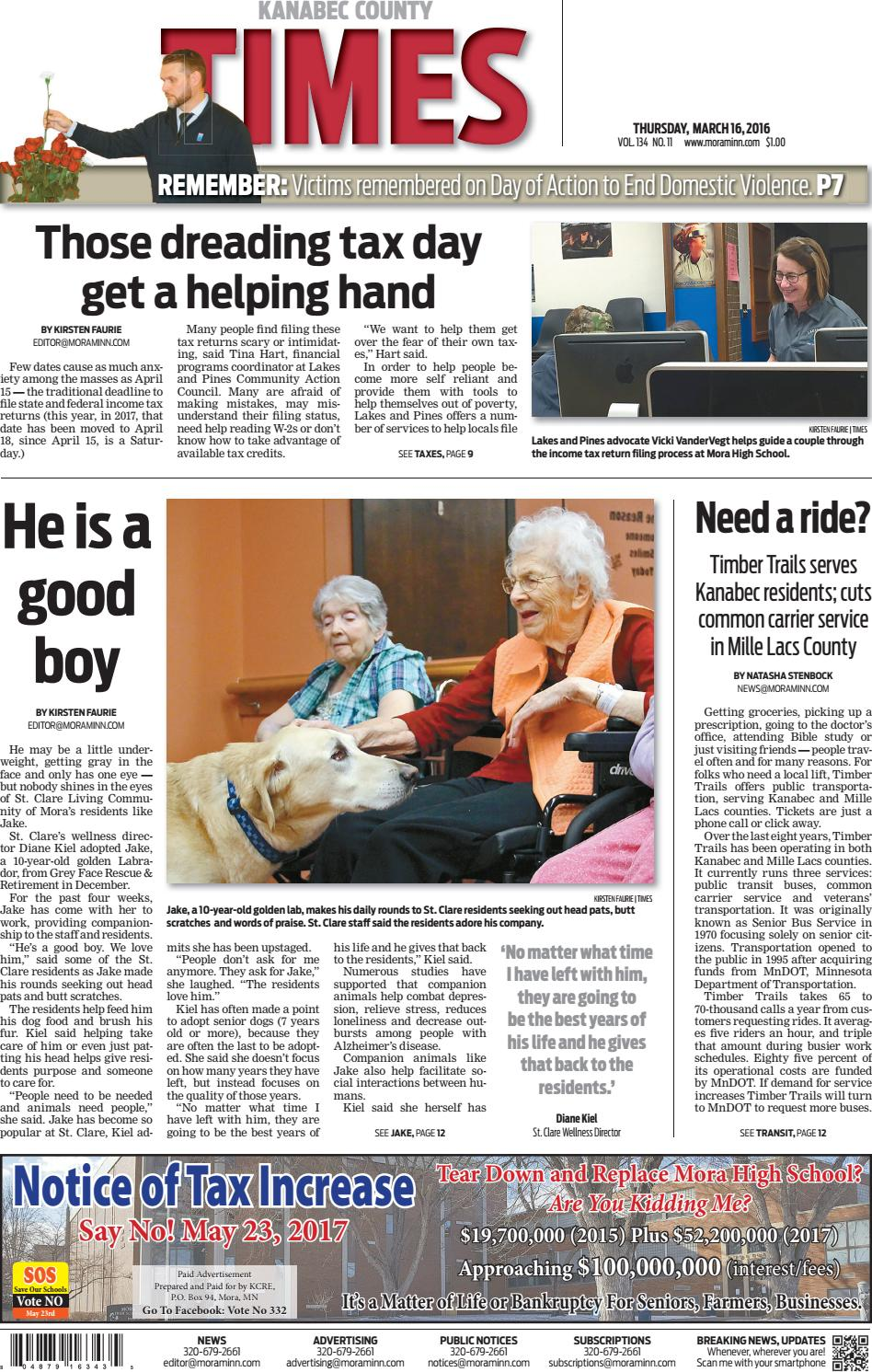 Kanabec County Times E Edition March 16 2017 By Kanabec County