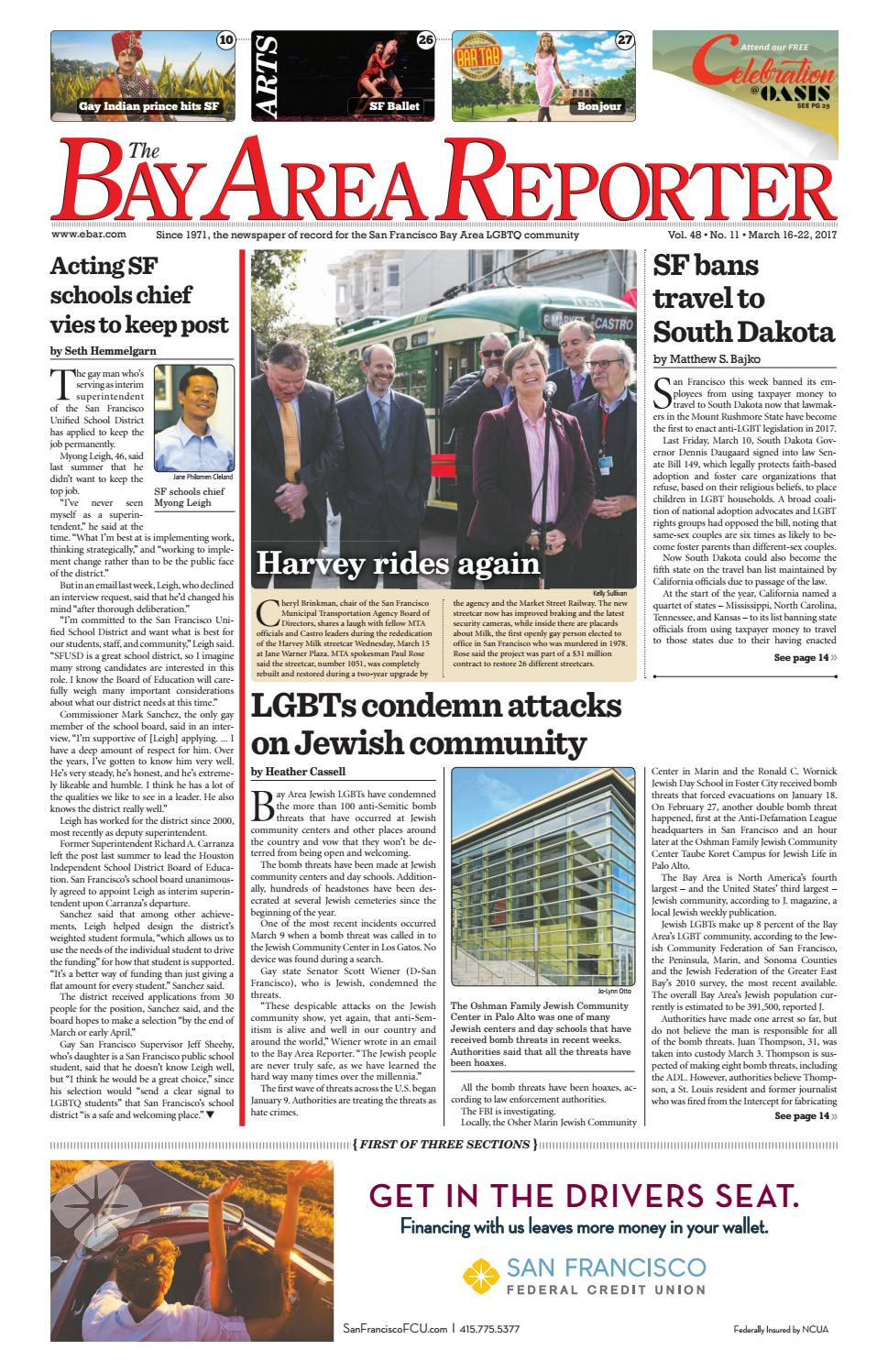 Bay Area Reporter : March edition of the bay area reporter by
