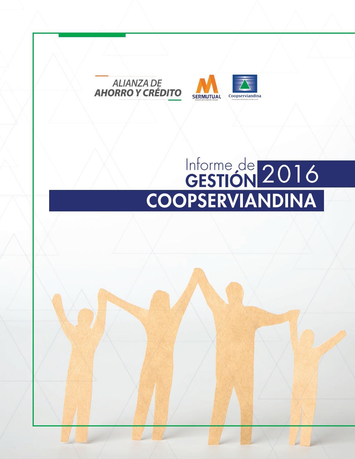 Informe De Gesti N 2016 Coopserviandina By Martin Brand Gesti N  # Muebles Roldan Tulua