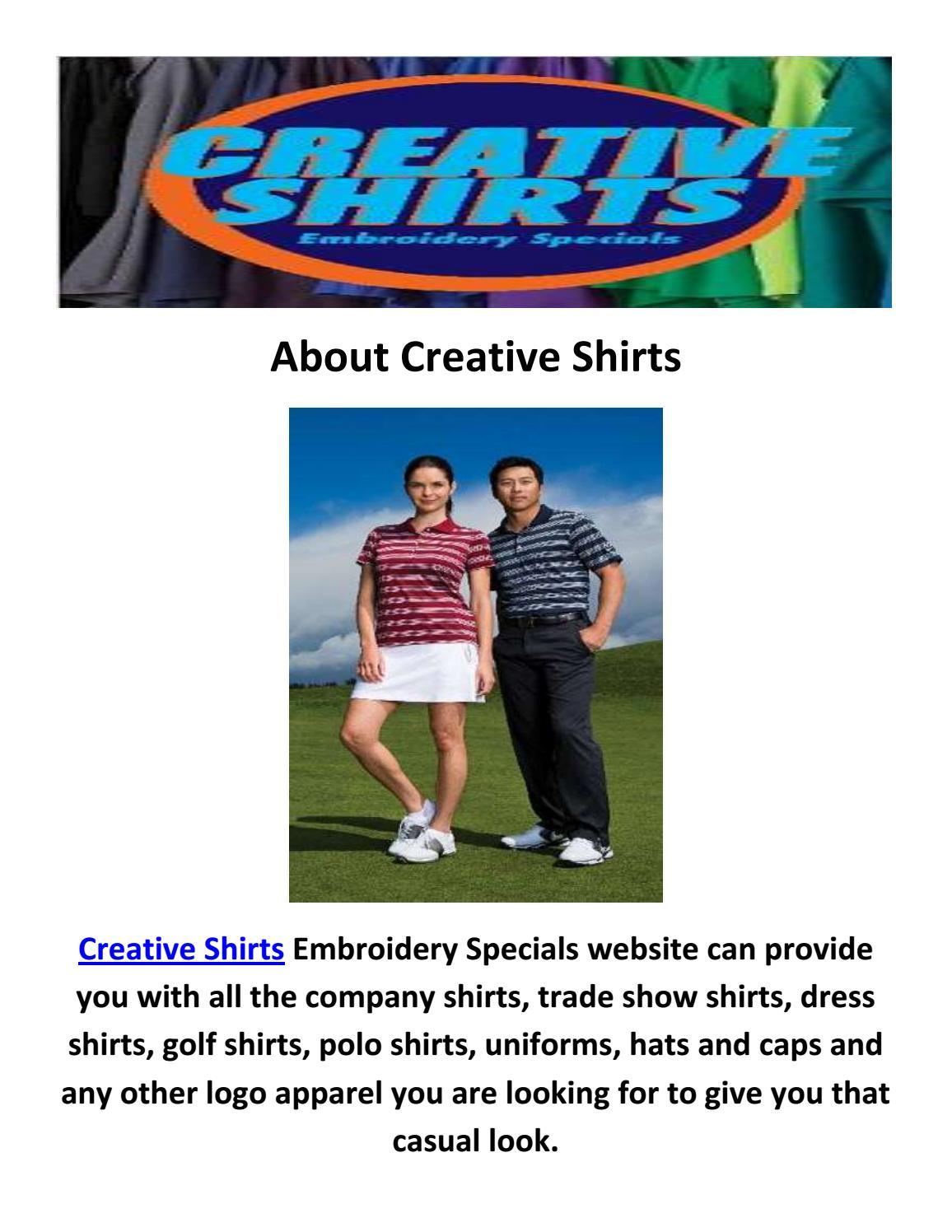 Creative Logo Polo Shirts In Oakland Park Fl By Creative Shirts Issuu