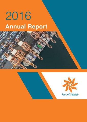 Port of Salalah Annual Report 2016 (English) by Oman Establishment