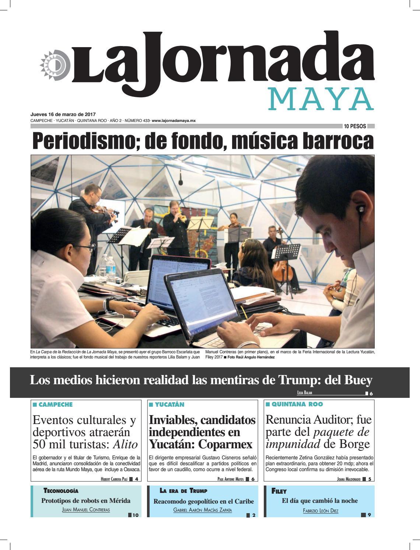 La Jornada Maya · Jueves 16 de marzo ad1c73e82f1f