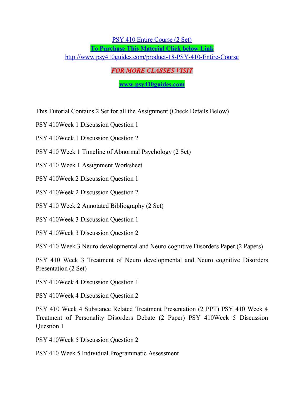 worksheet Psychology Timeline Worksheet psy 410 entire course 2 set by kelvinmanase35 issuu