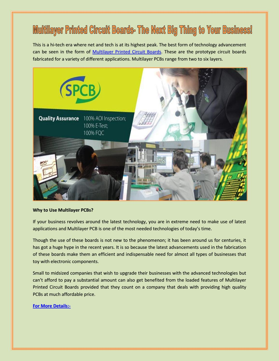 Multilayer Printed Circuit Boards The Next Big Thing To Your What Are Used For Business By Standard Pcb Issuu