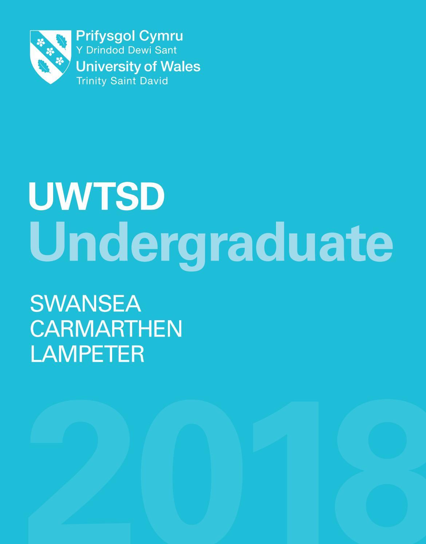 Undergraduate Prospectus 2018 By University Of Wales Trinity Saint