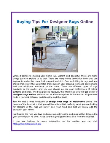 Ing Tips For Designer Rugs Online By