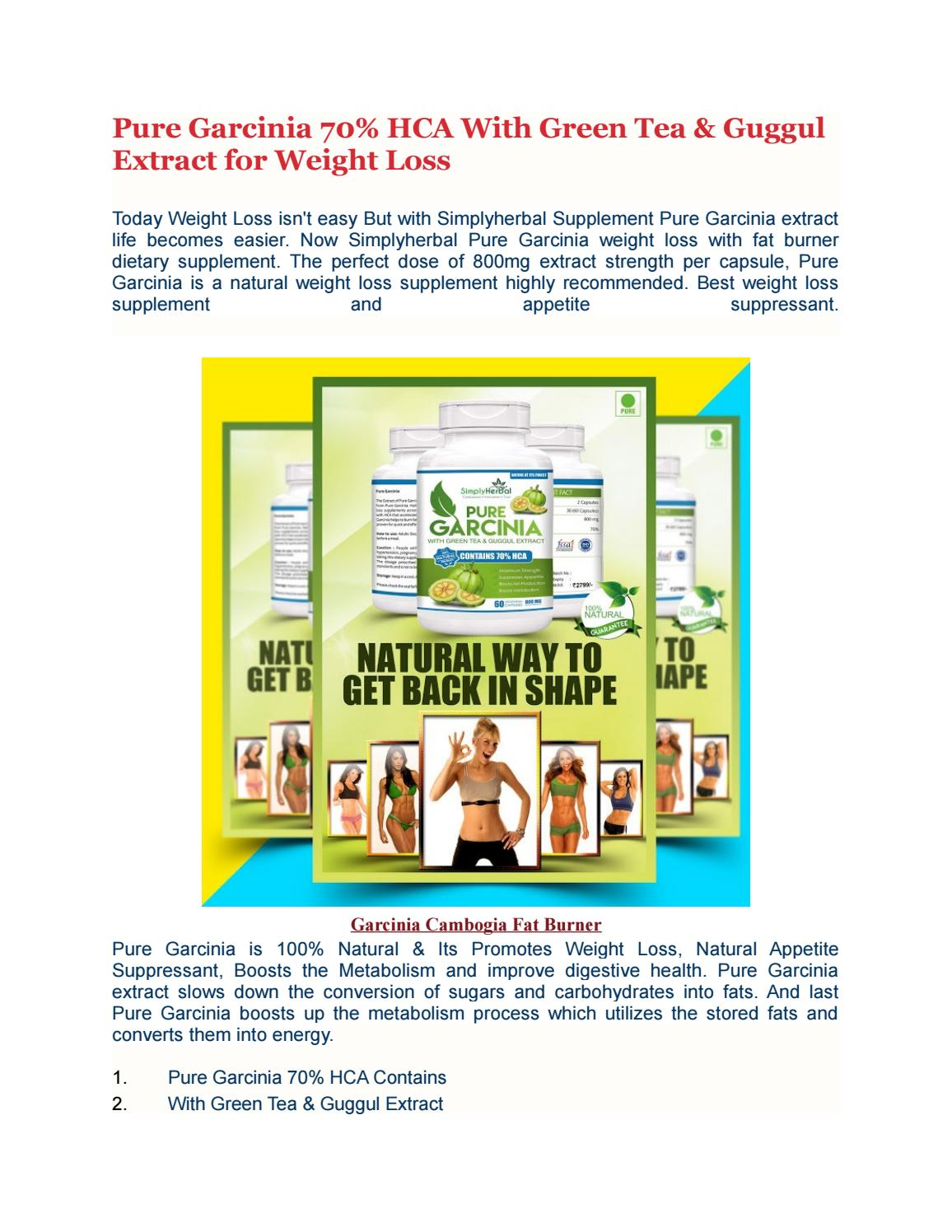 garcinia extract for weight loss