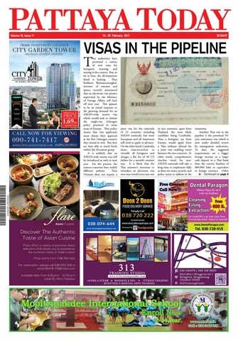 Pattaya Today Vol 16 Issue 11 - 16-28 February 2017 by Pattaya Today ... 5a4b680fbcbef
