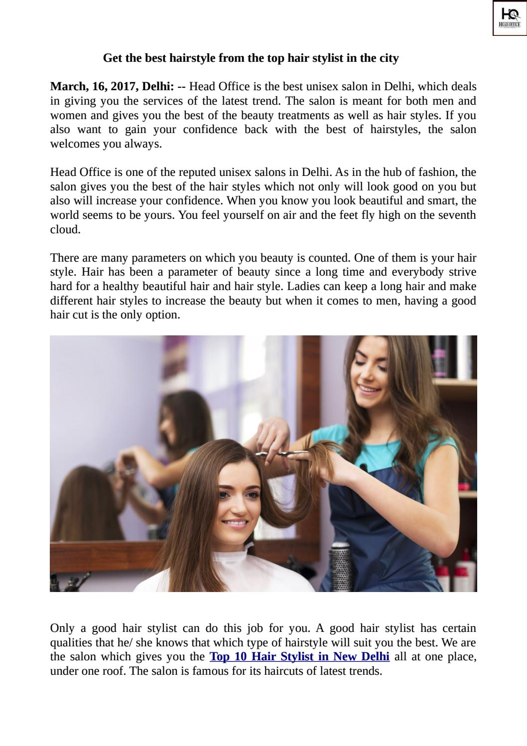 get the best hairstyle from the top hair stylist in the city by