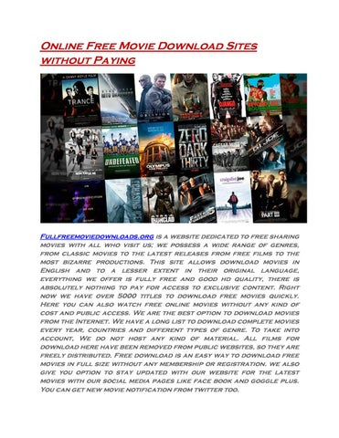 free movie download websites no membership