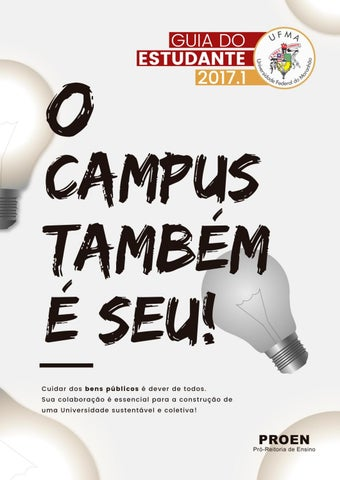 Guia Do Estudante Ufma 2017 1 By Universidade Federal Do