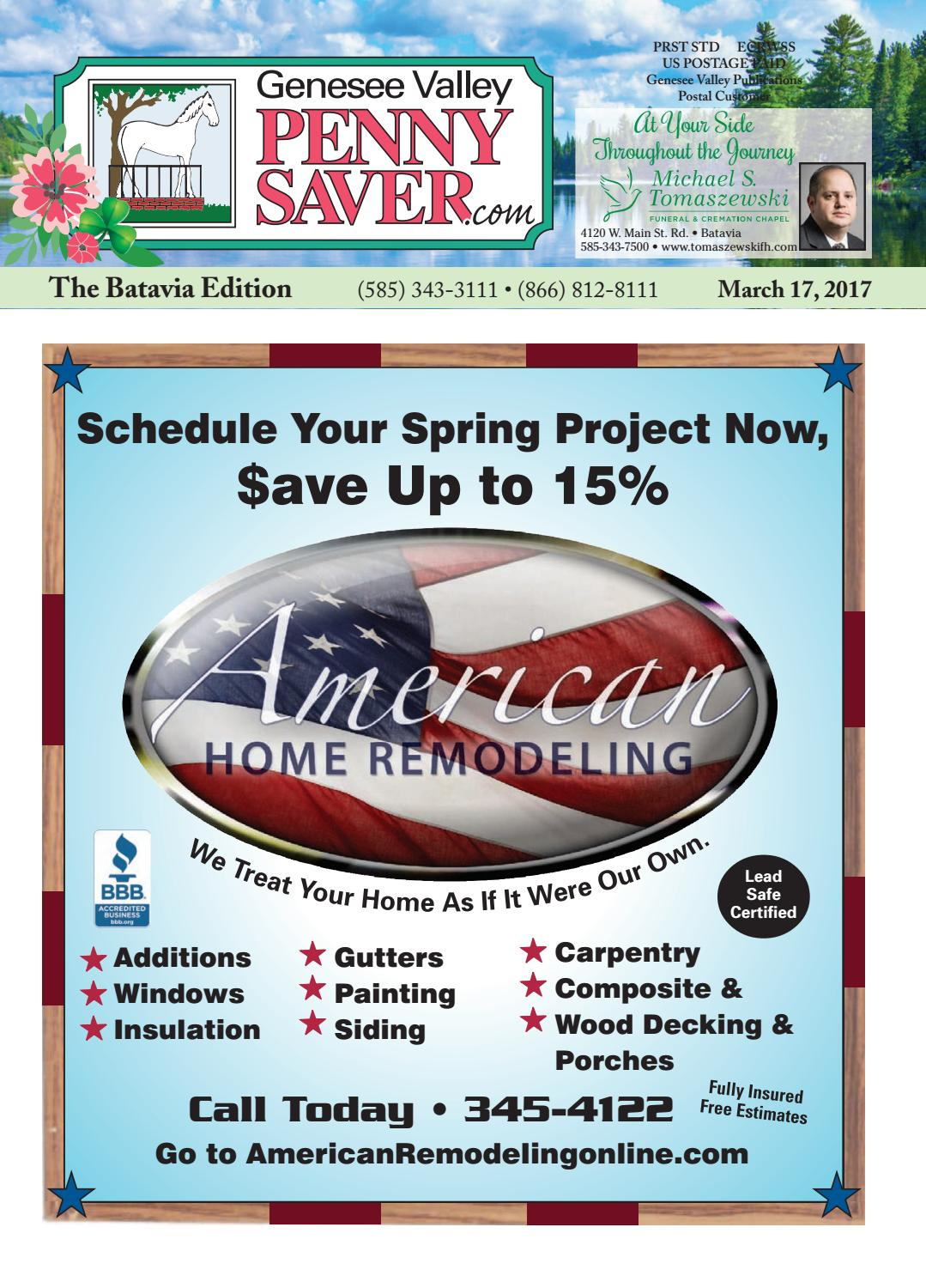 The Genesee Valley Penny Saver Batavia Edition 3/17/17 by