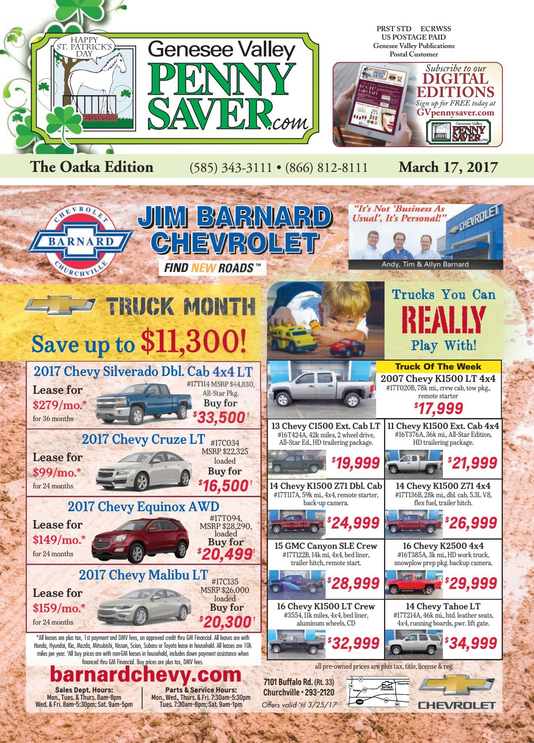 The Genesee Valley Penny Saver Oatka Edition 3/17/17 by Genesee Valley  Publications - issuu