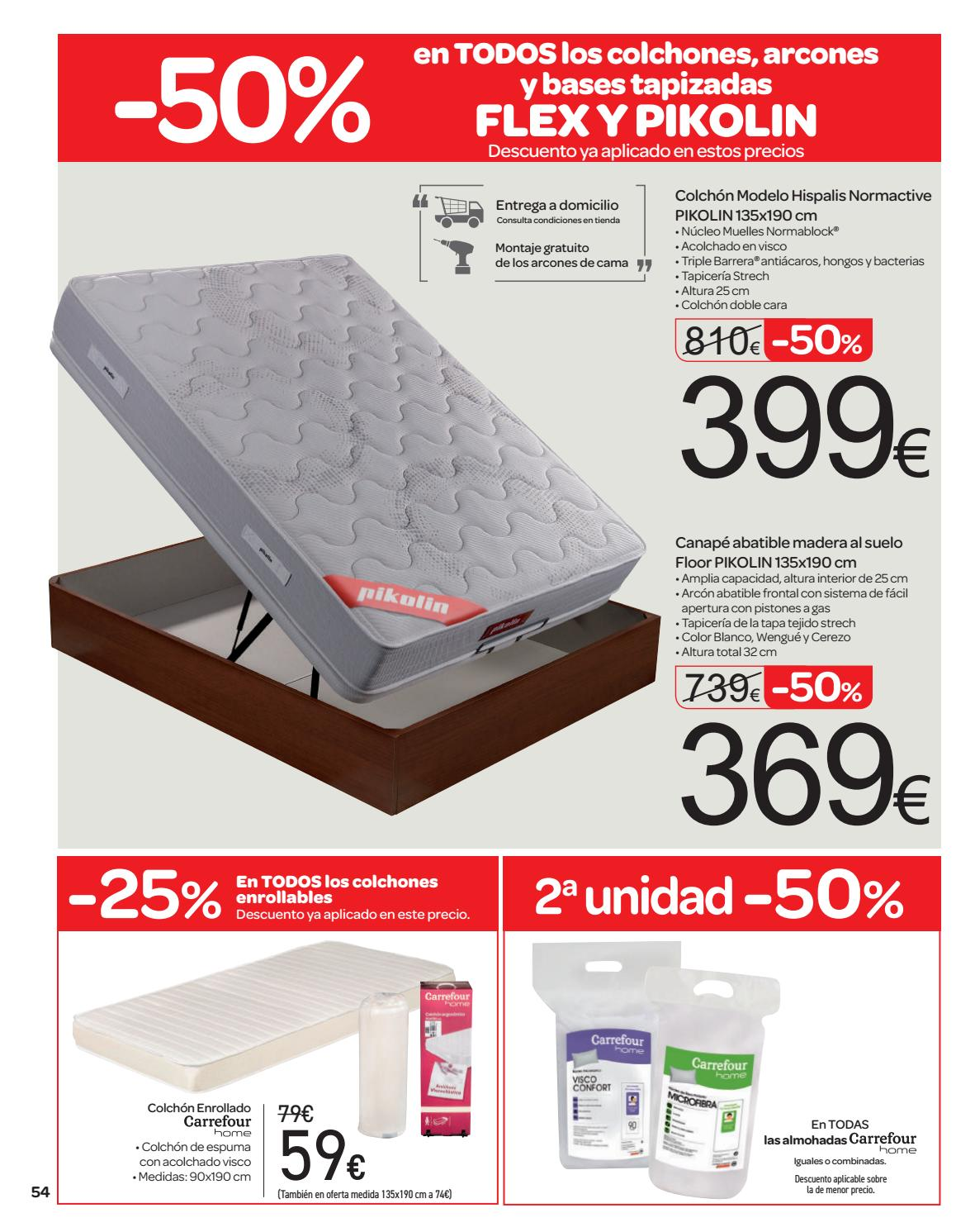 50 en la 2a unidad en carrefour by ofertas supermercados for Barrera cama carrefour