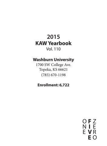 3c90c818 KAW Yearbook 2015 by Kaw Yearbook - issuu