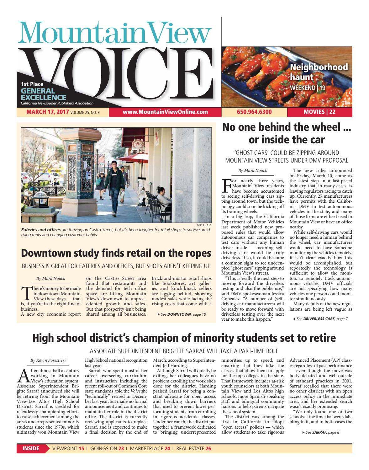 Mountain View Voice March 17 2017 By Issuu Name Card Holder Binder 6242