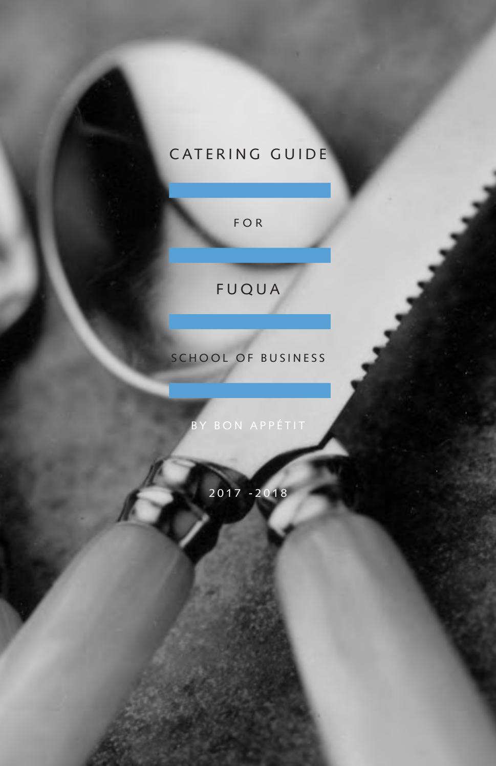 Fuqua Catering Menu By Compass Group USA   Issuu