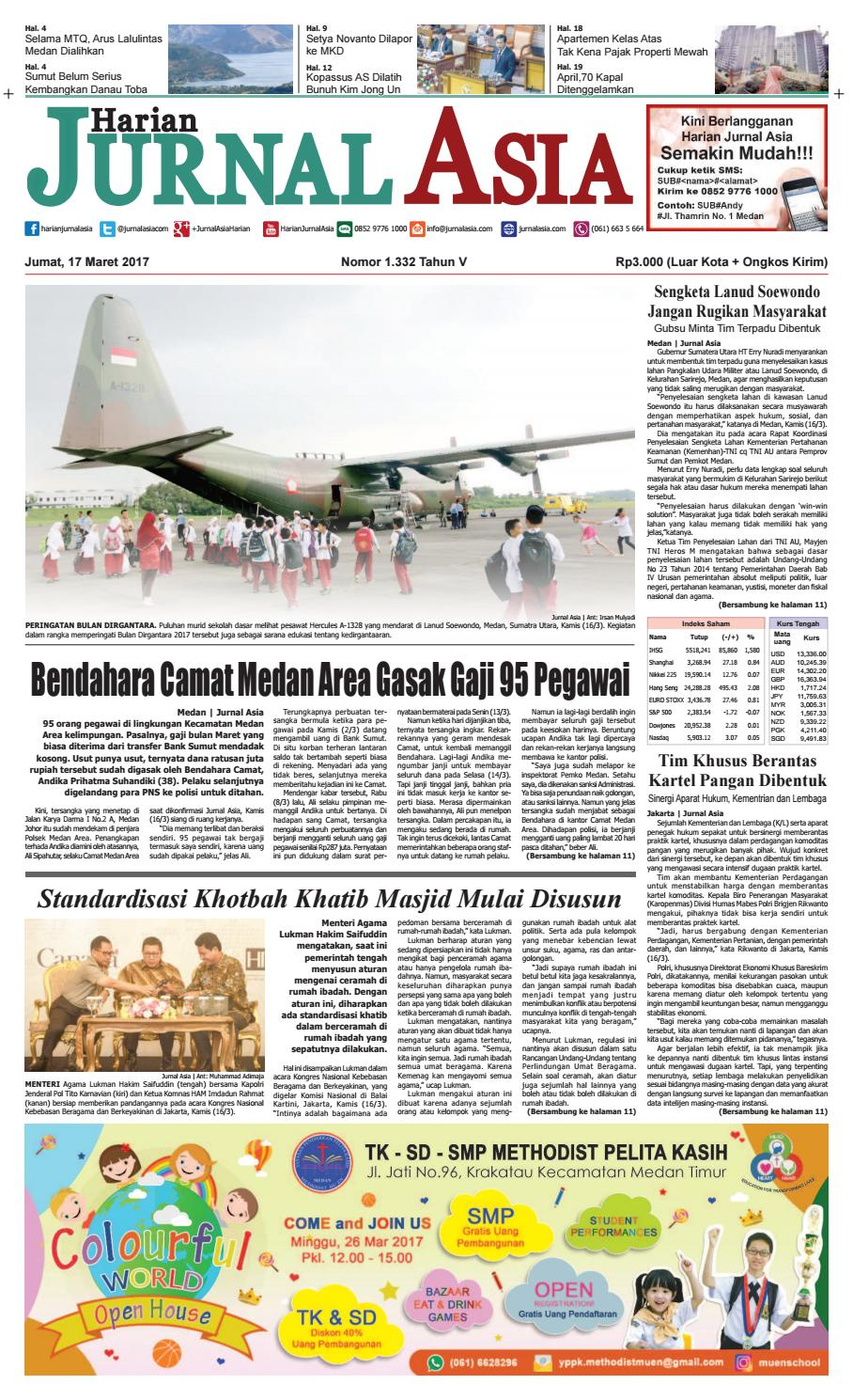 Harian Jurnal Asia Edisi Jumat 17 Maret 2017 By Kopi Bubuk Ridha Utama Smg Medan Issuu