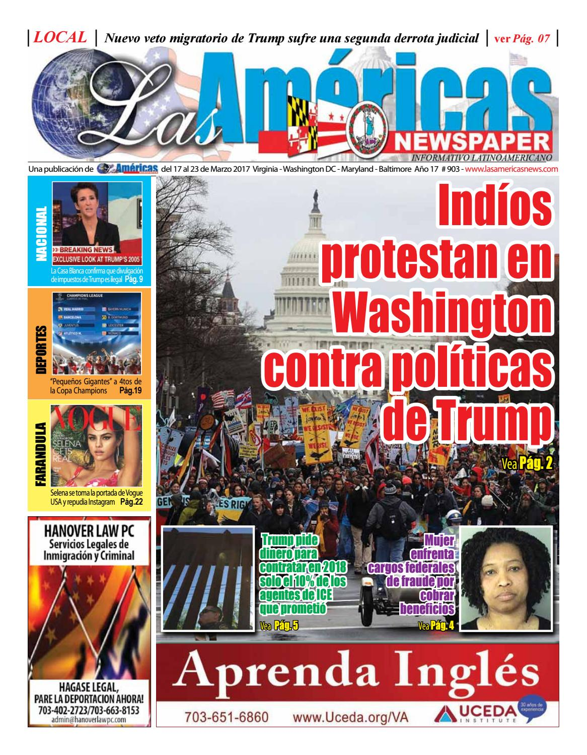 Indios estadounidenses protestan en Washington DC contra políticas ...
