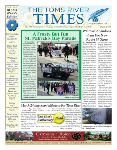 c7f19b399ab5 2017-03-18 - The Toms River Times by Micromedia Publications Jersey ...