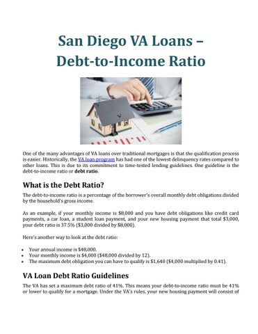 San Diego VA Loans – Debt-to-Income Ratio by Curtis Gray - issuu