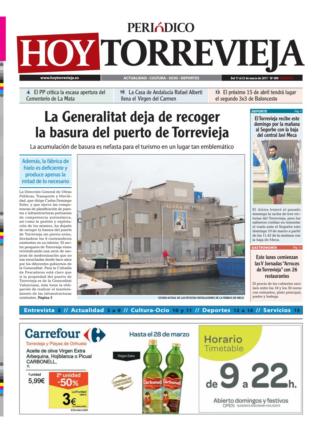 Periódico HOY TORREVIEJA 17/3/17 nº 490 by Periódico HOY TORREVIEJA ...