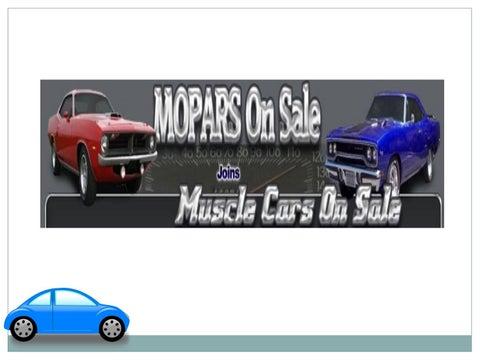 Mopars For Sale >> Classic Old Mopar S Cars For Sale At Moparsonsale Com By