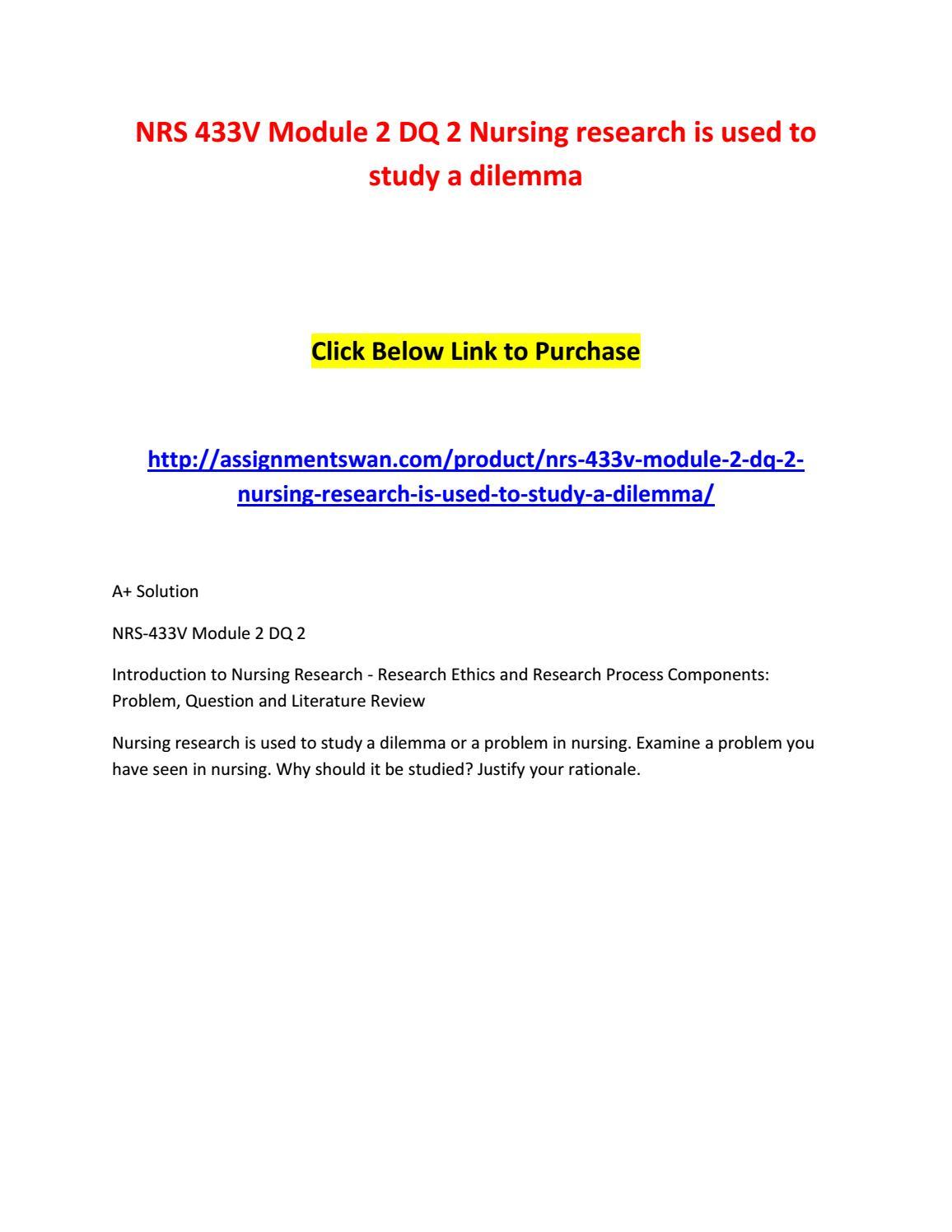 nrs 433v qualitative study critique