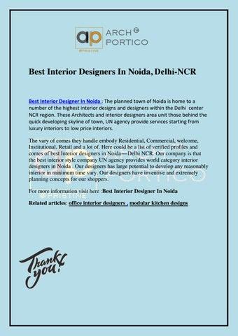 Best Interior Designers In Noida Delhi Ncr By Archportico Issuu