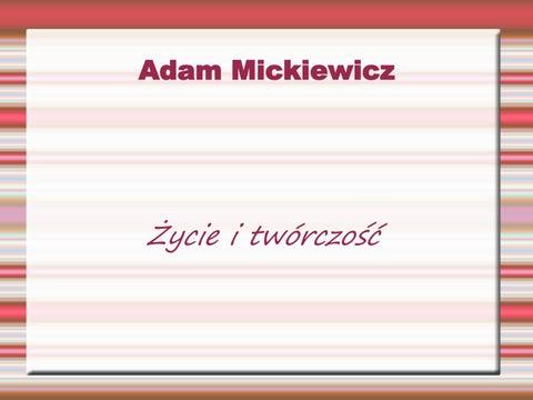Adam Mickiewicz Prezentacja By Małgorzata Issuu