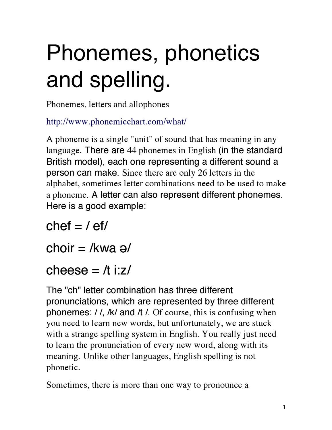Phonemes in English by isabel   issuu