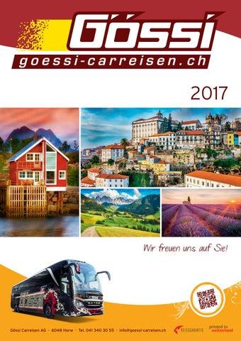 Gössi Carreisen Katalog 2017 by Gössi Carreisen - issuu