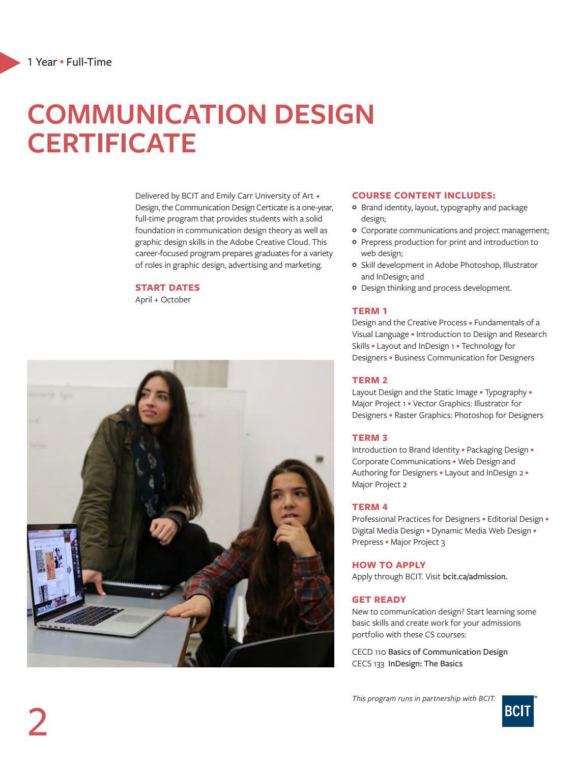 Bcit Emily Carr Graphic Design
