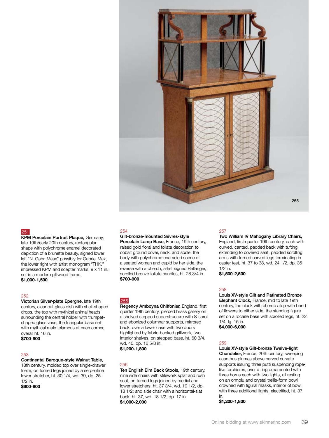 European Furniture & Decorative Arts | Skinner Auction 3000B