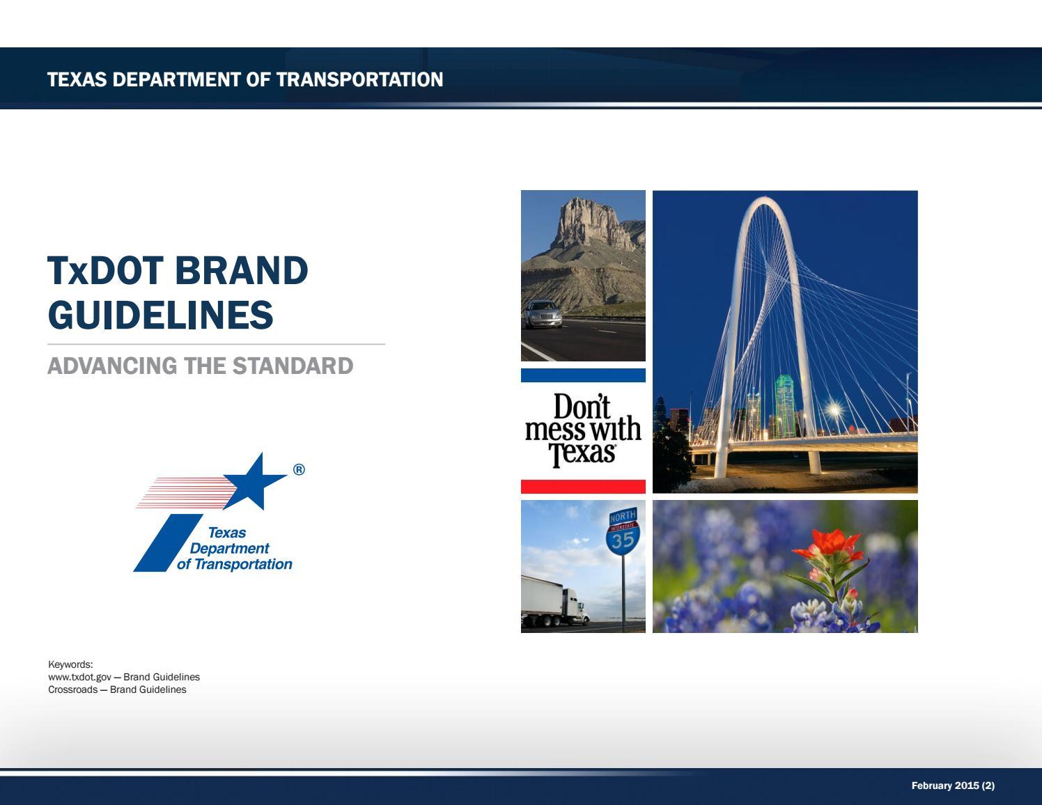 Texas Dept of Transportation Brand Manual by Lukasz