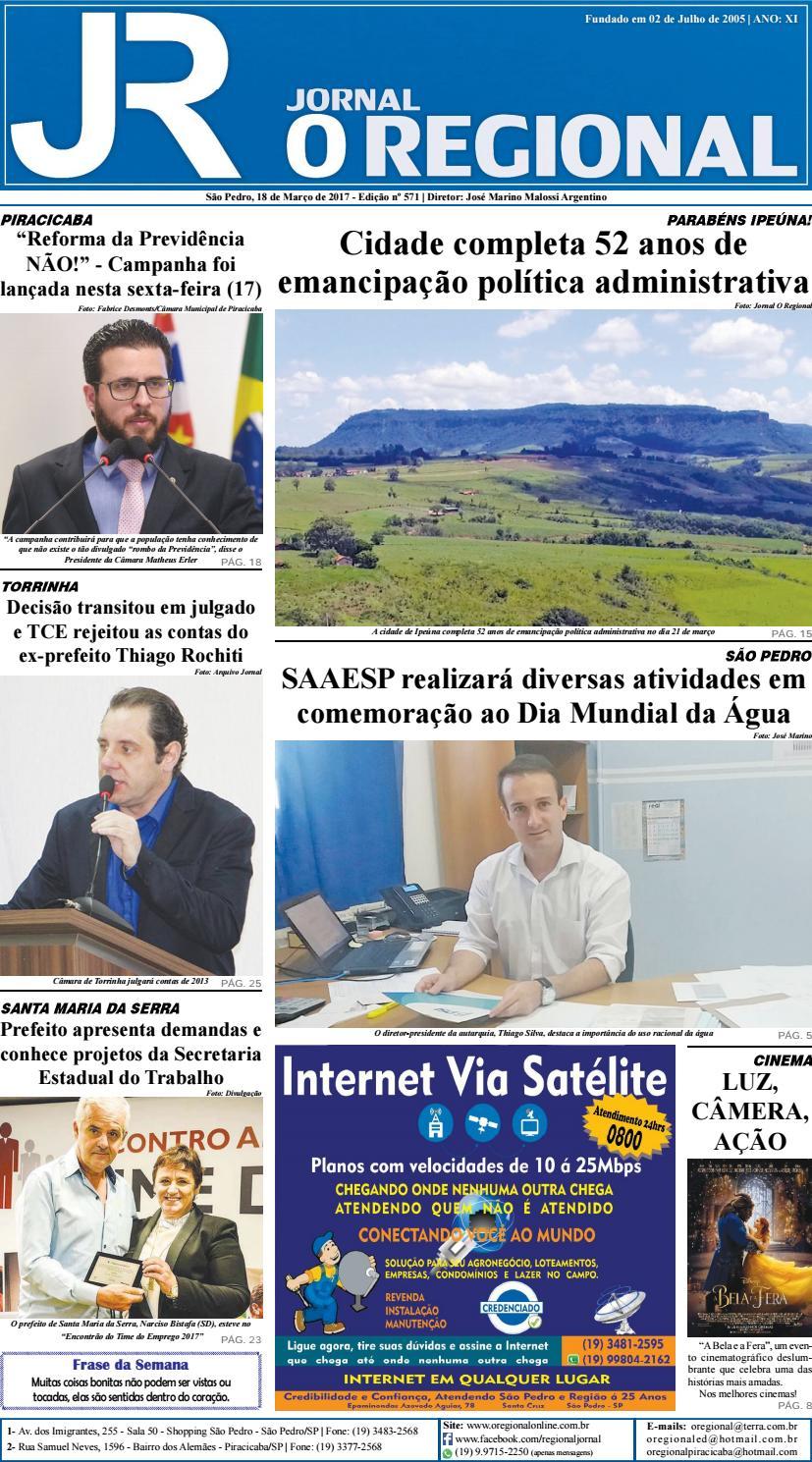 b8834c850 Jornal o regional edição 571 18 03 2017 site by Jornal O Regional - issuu