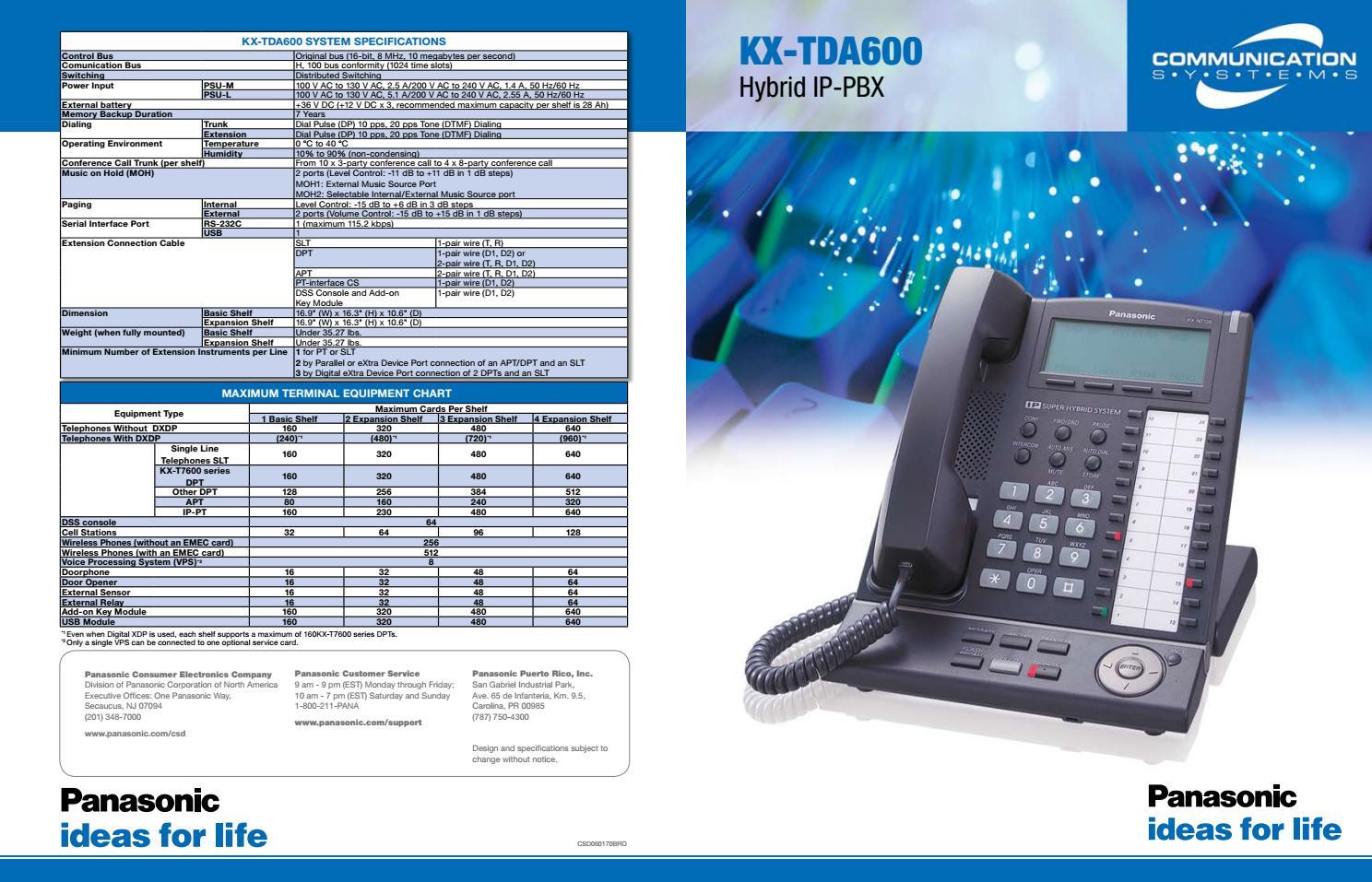 PANASONIC KX TDA600 DRIVERS FOR WINDOWS 7