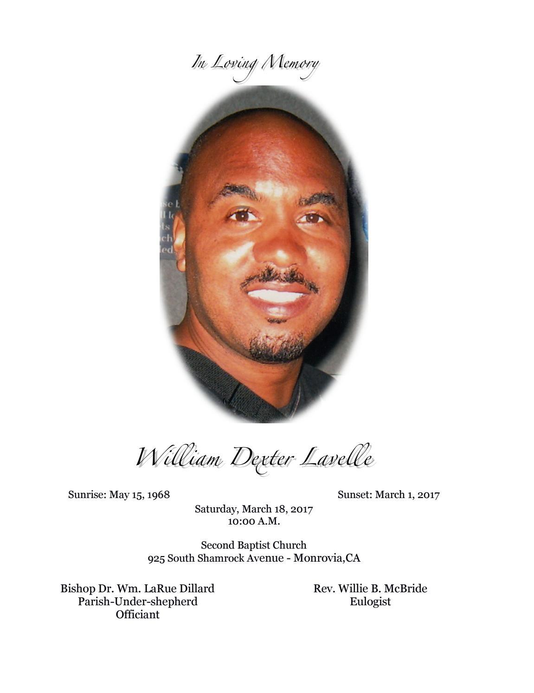 william dexter lavelle funeral program by rjlawrencejr issuu