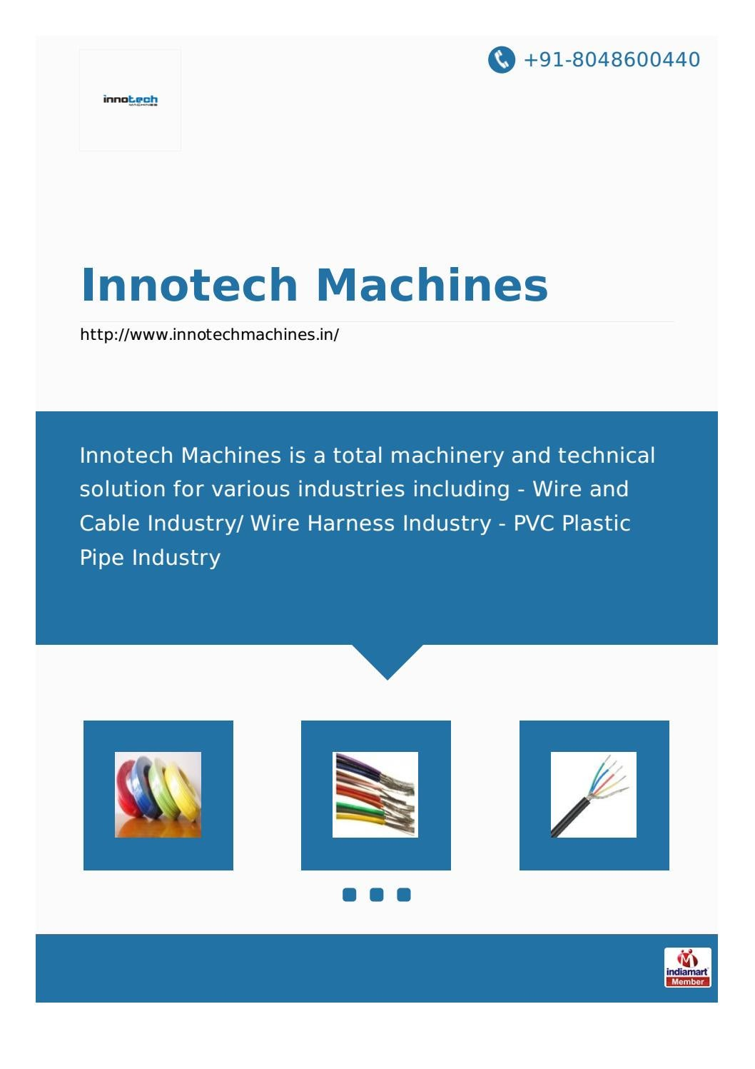Innotech Machines By Issuu Wiring Harness India