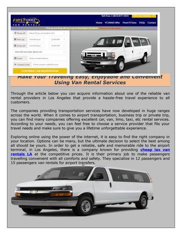15d87463aa 15 Passenger Van Rental - Get an Online Quote in Seconds by ...