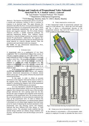 Design and Analysis of Proportional Valve Solenoid by