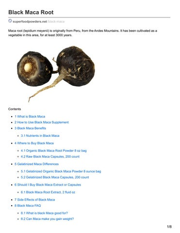 Black Maca Root Benefits By Superfood Powders Issuu
