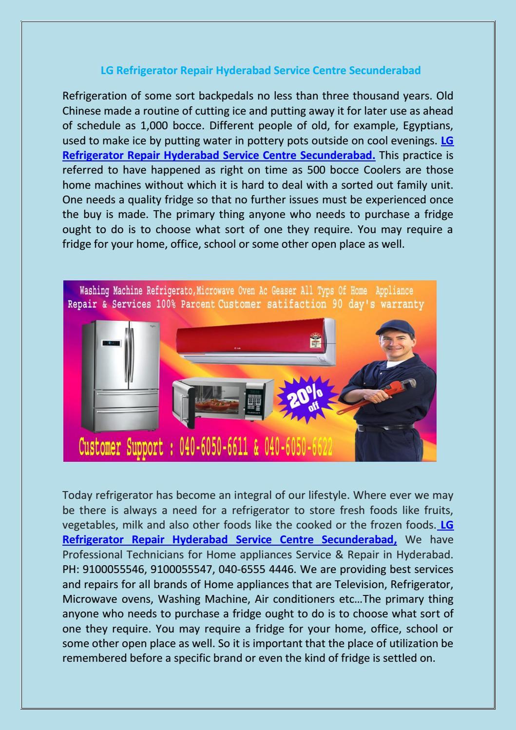 Lg refrigerator repair hyderabad service centre secunderabad
