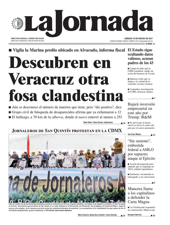 La Jornada, 03/18/2017 by La Jornada: DEMOS Desarrollo de Medios SA ...
