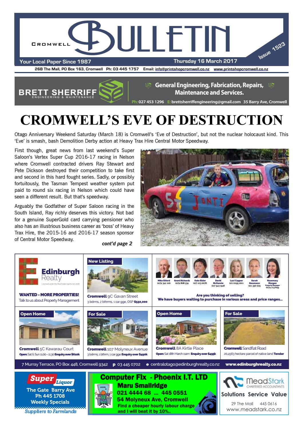 Bulletin 1523 By Cromwell Bulletin Issuu