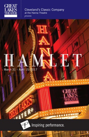 Hamlet Playbill Great Lakes Theater Spring 2017 By Great Lakes