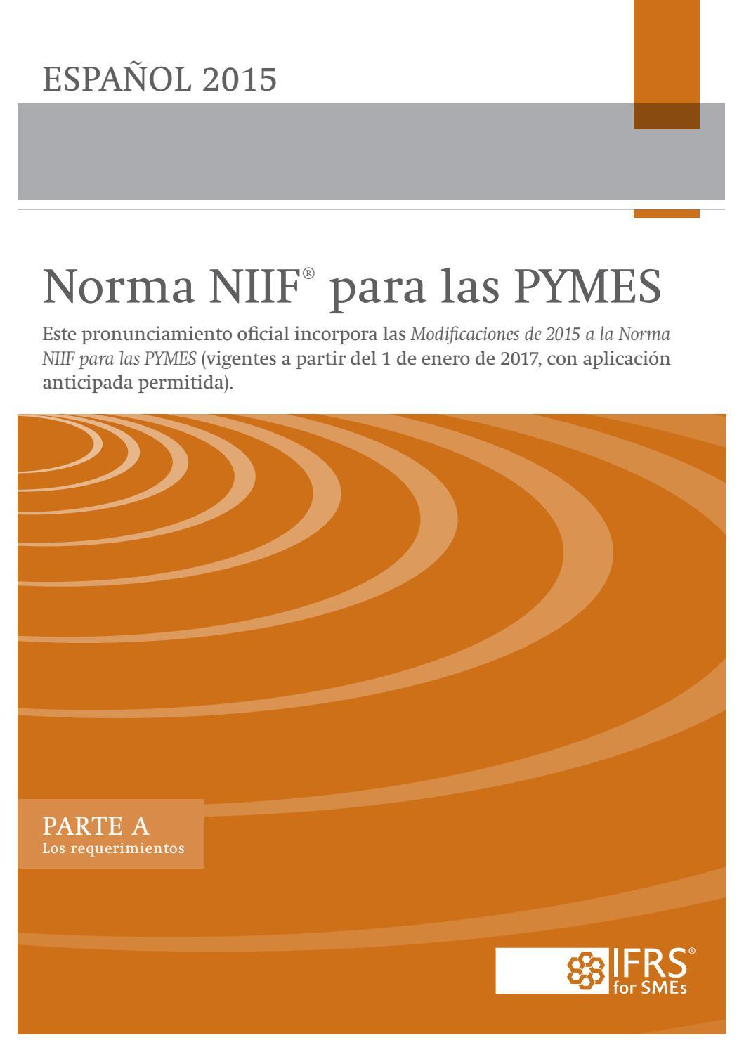 Niif Para Pymes Edición 2015 By Orlando Pineda Vallar Issuu